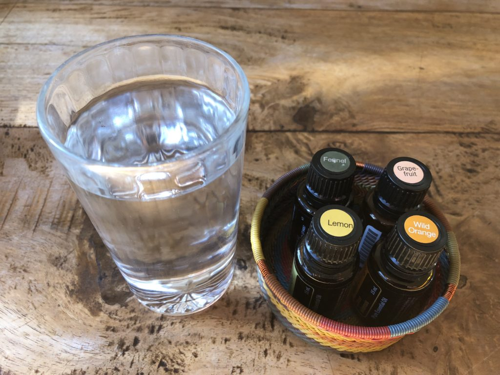 Flavouring your water with essential oils for yummy deliciousness